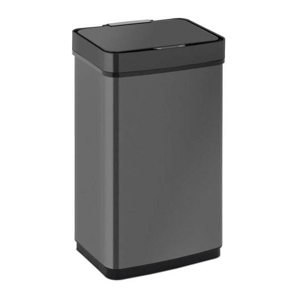 Sensor Abfalleimer - 60 L - schwarz - eckig