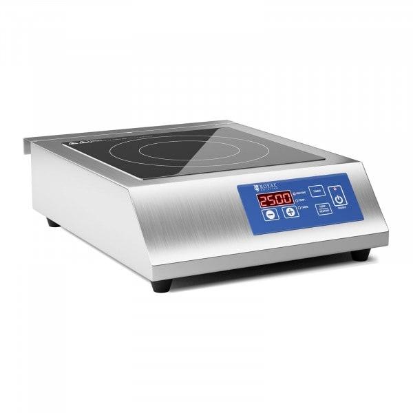 Induktionsplatte - 26 cm - 60 bis 240 °C - LED-Touchdisplay - Timer