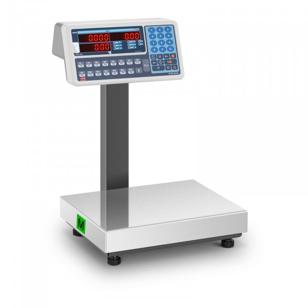 Preisrechenwaage - geeicht - 30 kg - Dual-LED