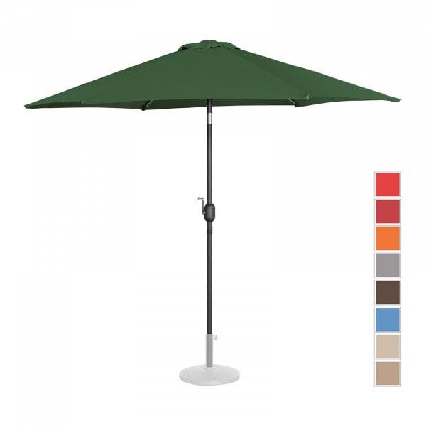 Sonnenschirm groß - grün - sechseckig - Ø 270 cm - neigbar