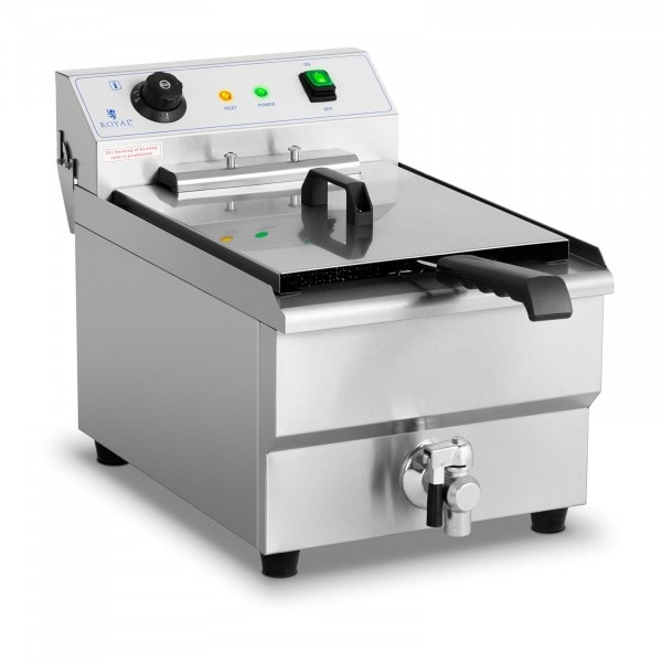 Elektro-Fritteuse - 16 Liter - 6.000 W - Ablasshahn - Kaltzone