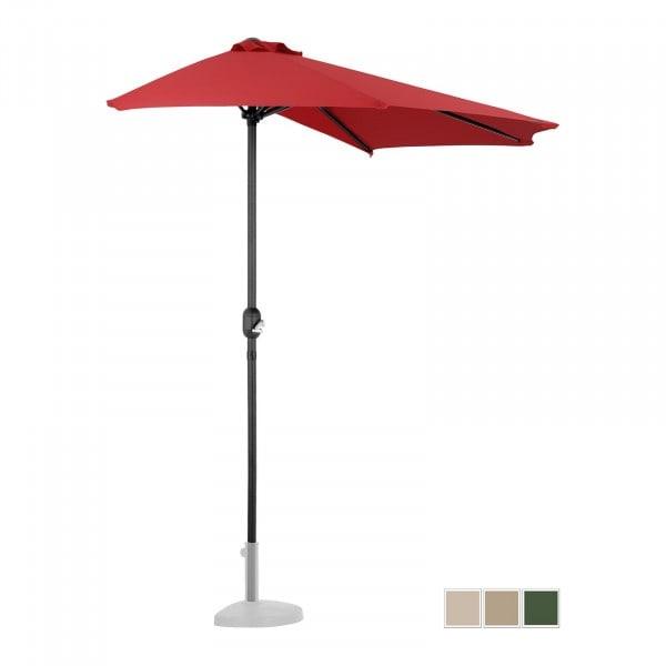 B-Ware Halber Sonnenschirm - Rot - fünfeckig - 270 x 135 cm