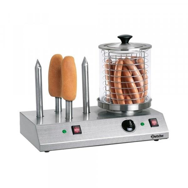 Gesamtansicht von Bartscher Hotdog-/Würstchen Gerät mit 4 Spezial-Toaststangen