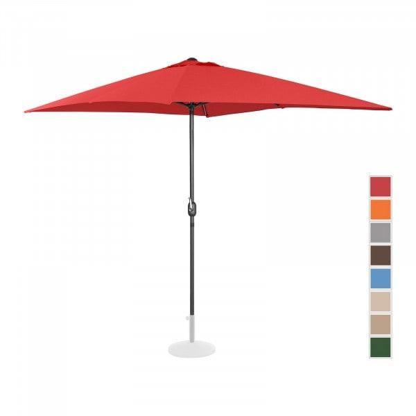 Sonnenschirm groß - rot - rechteckig - 200 x 300 cm