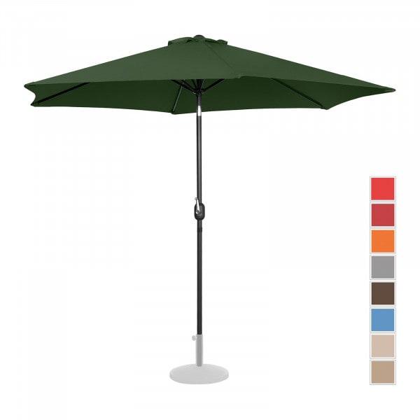 Sonnenschirm groß - grün - sechseckig - Ø 300 cm - neigbar