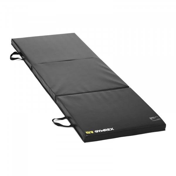 Weichbodenmatte - 180 x 60 x 5 cm - faltbar - schwarz
