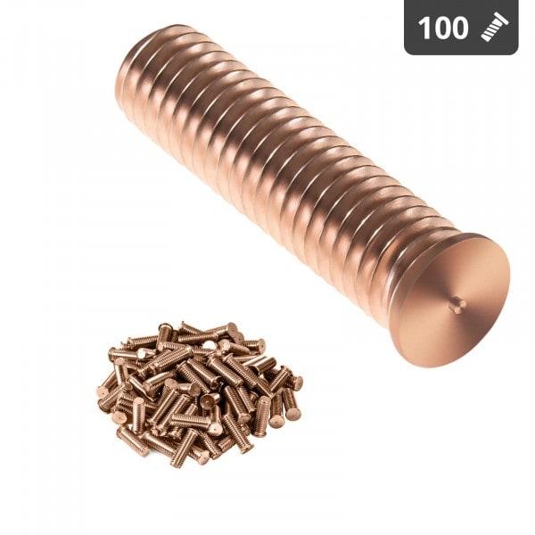 Schweißbolzen - M10 - 40 mm - Stahl - 100 Stück