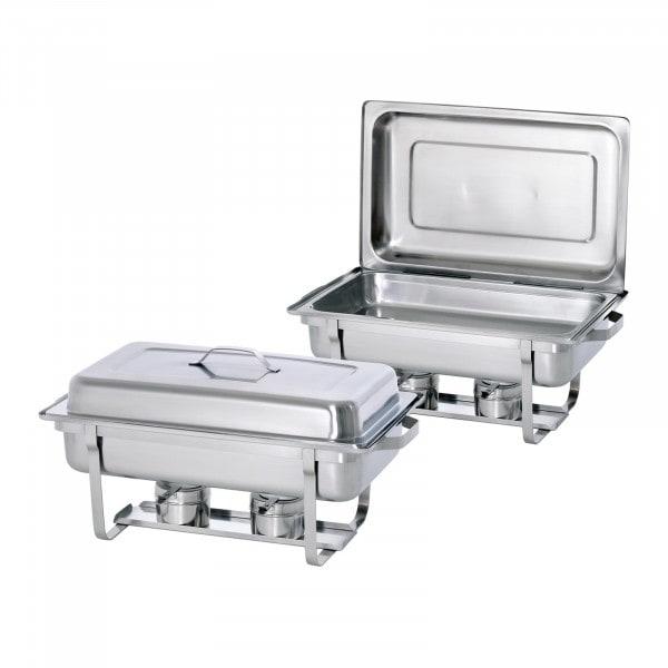 Bartscher Chafing Dish - 1/1 GN - Twin Pack Set