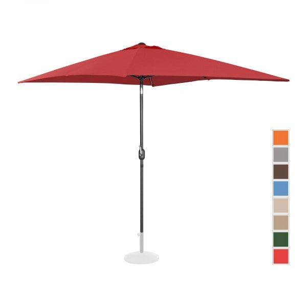 B-Ware Sonnenschirm groß - bordeaux - rechteckig - 200 x 300 cm - neigbar