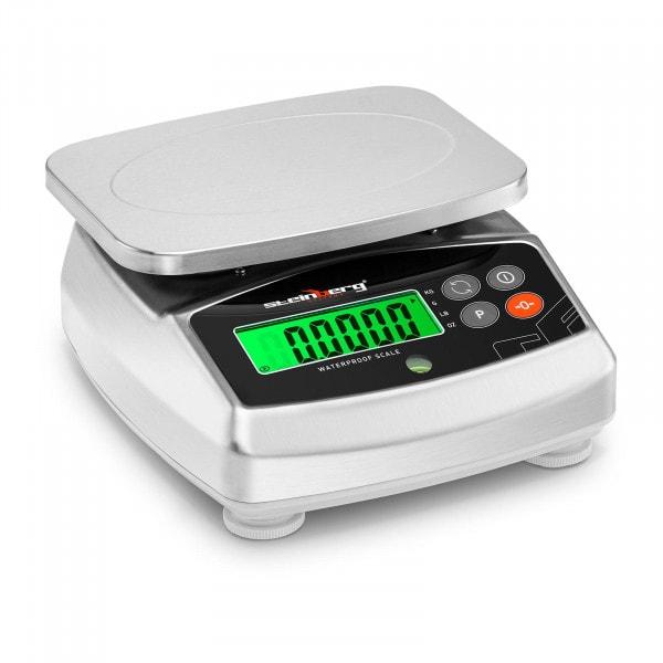Digitale Tischwaage - 3 kg / 0,1 g - 21 x 16 cm - LCD