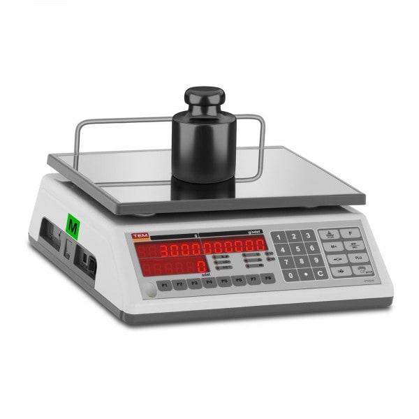 Zählwaage - geeicht - 3 kg / 1 g