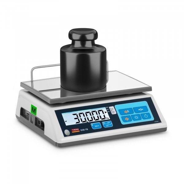 Tischwaage - geeicht - 30 kg / 10 g - LCD - Memory