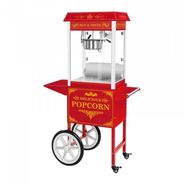 Popcornmaschine mit Wagen - rot - 1537 - 1