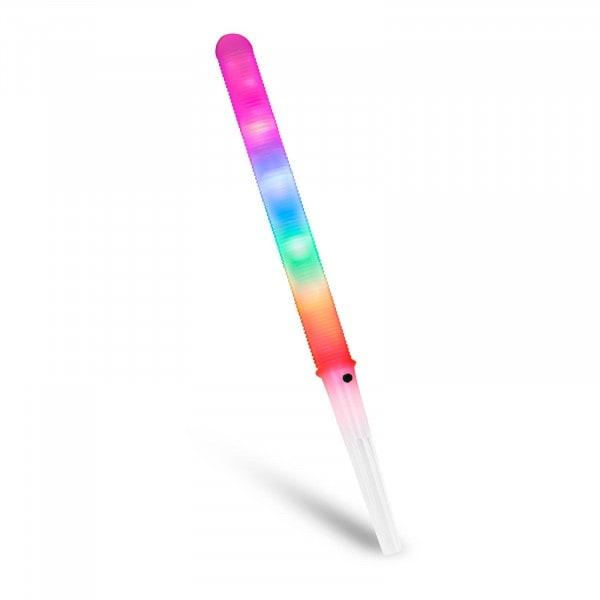 Zuckerwattestäbchen LED - 7 Modi - BPA-freier Kunststoff - inkl. Batterien - 100 Stück