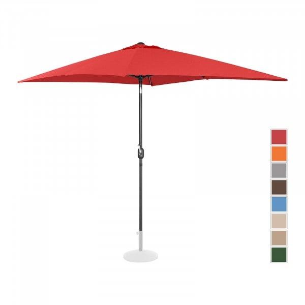 Sonnenschirm groß - rot - rechteckig - 200 x 300 cm - neigbar
