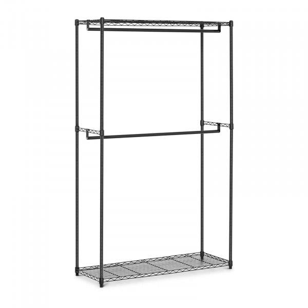 Garderobenständer Metall - 120 x 45 x 199,5 cm - 200 kg - schwarz