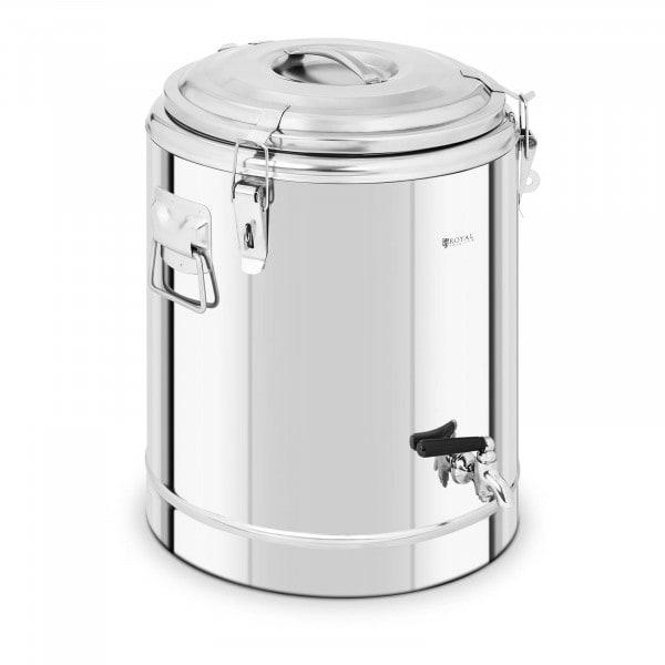 B-Ware Thermobehälter Edelstahl - 30 L - mit Ablasshahn