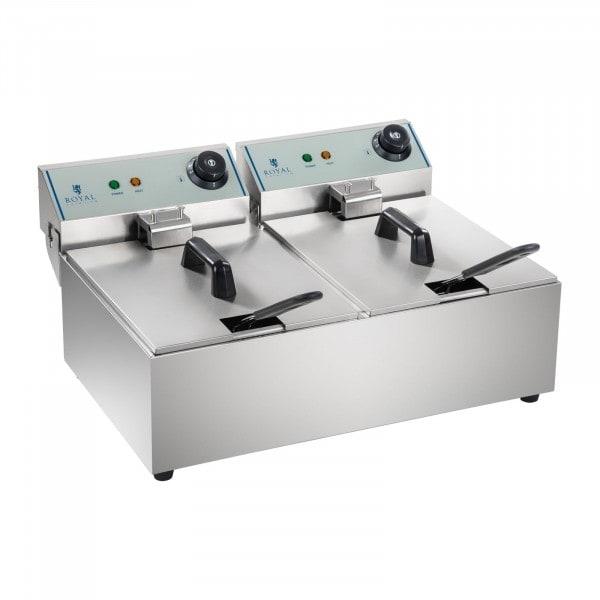 B-WARE Elektro-Fritteuse - 2 x 10 Liter - ECO