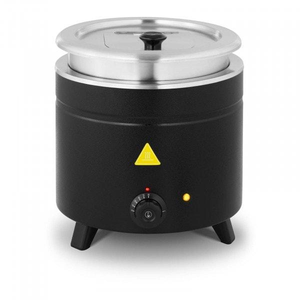 Suppentopf elektrisch - 11 L - Edelstahl - schwarz beschichtet