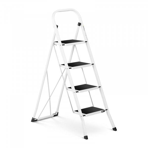Trittleiter - 4 Stufen - Stahl - Höhe 100 cm