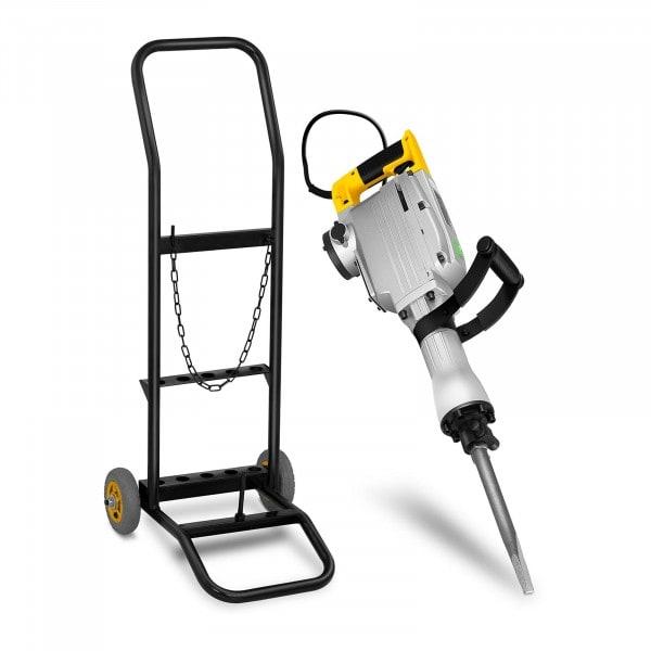Abbruchhammer mit Trolley - 1.850 W - 1.900 Schläge/min - 45 Joule - SDS HEX