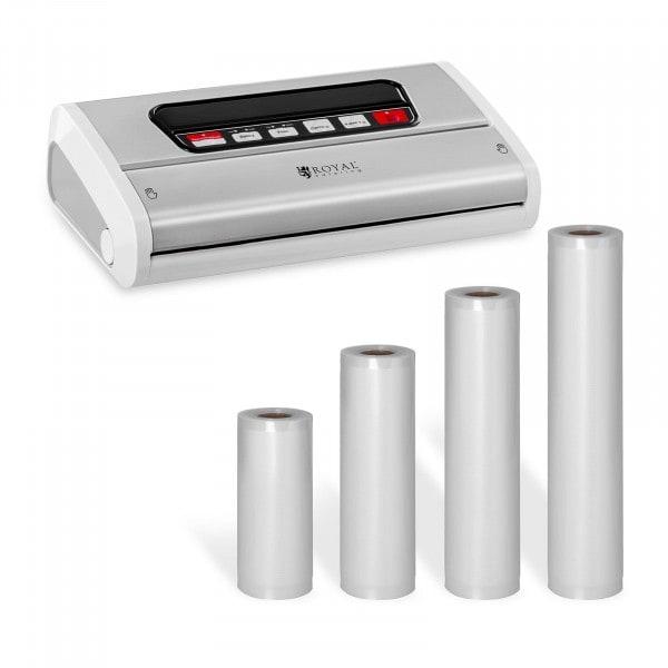 Vakuumiergerät Set mit 4 Rollen Vakuumierbeuteln - 15 bis 30 cm - Edelstahl/ABS - 32 cm
