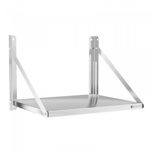 Wandbord - klappbar - 60 x 45 cm - 40 kg - Edelstahl