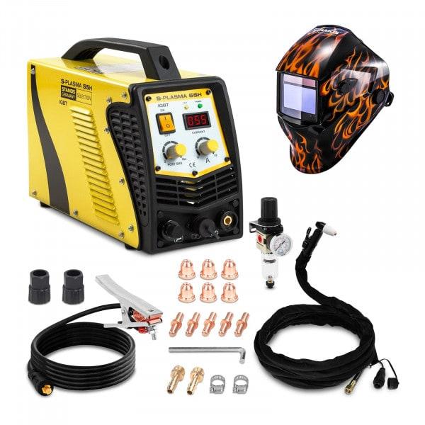 Schweißset Plasmaschneider - 55 A - 230 V - Kontaktzündung + Schweißhelm – Firestarter 500