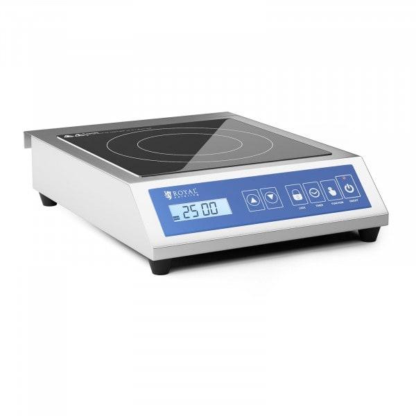 Induktionsplatte - 28 cm - 60 bis 240 °C - Touchdisplay - Timer