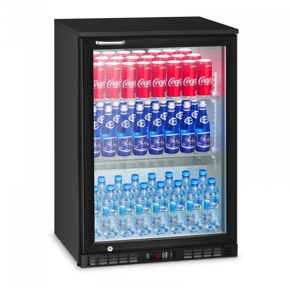 B-Ware Flaschenkühlschrank klein - 138 L - 81 W - Schwarz