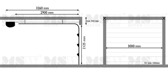 Sektionaltor 3000 x 2125 mm for Porte de garage sectionnelle 2125 x 2400