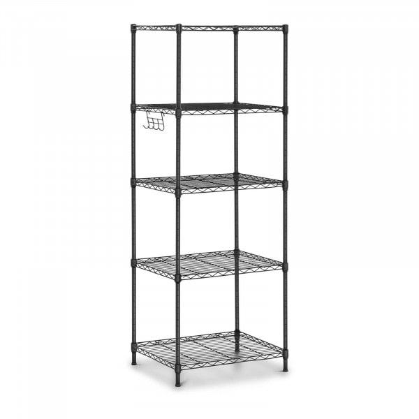 Metallregal - 55 x 45 x 150 cm - 150 kg - schwarz