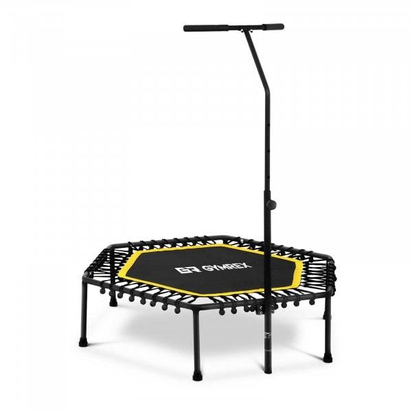 Fitness-Trampolin - mit Stange - gelb