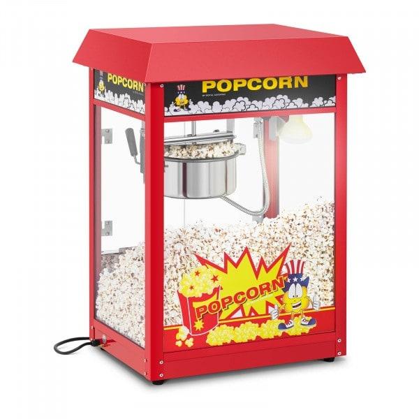 Popcornmaschine - 120 s Arbeitszyklus - rotes Dach