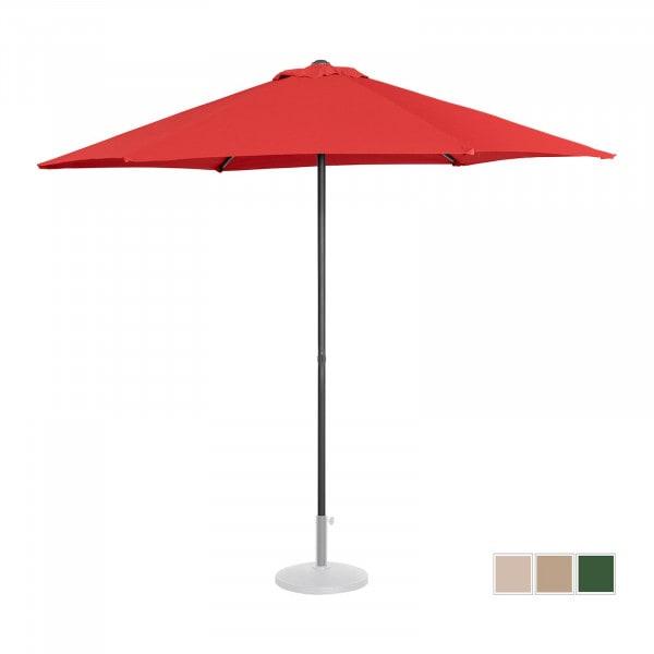 Sonnenschirm groß - rot - sechseckig - Ø 270 cm