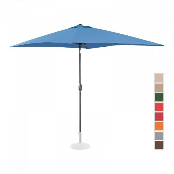 Sonnenschirm groß - blau - rechteckig - 200 x 300 cm - neigbar