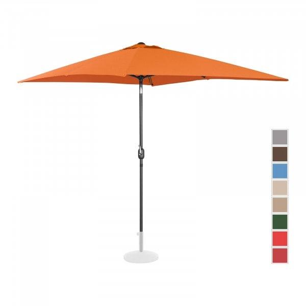 Sonnenschirm groß - orange - rechteckig - 200 x 300 cm - neigbar