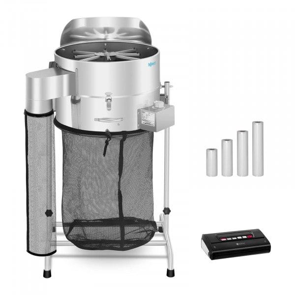 Erntemaschine elektrisch Set - Ø 42 cm - Vakuumiergerät mit Beutel
