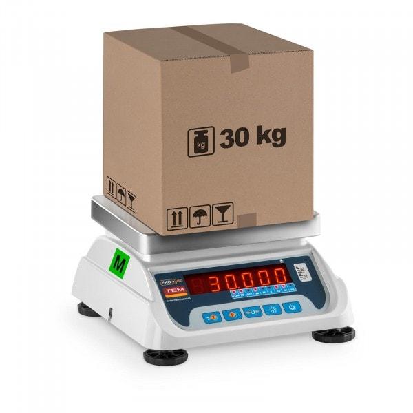 Tischwaage - geeicht - 15 kg/ 5g - 30 kg/10 g - LED