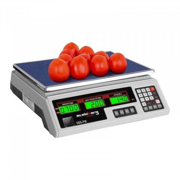Kontrollwaage - 35 kg / 2 g - weiß - LCD