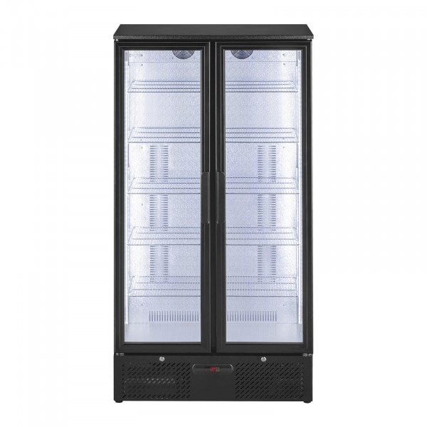 B-Ware Getränkekühlschrank - 458 L - edles matt-schwarzes Design