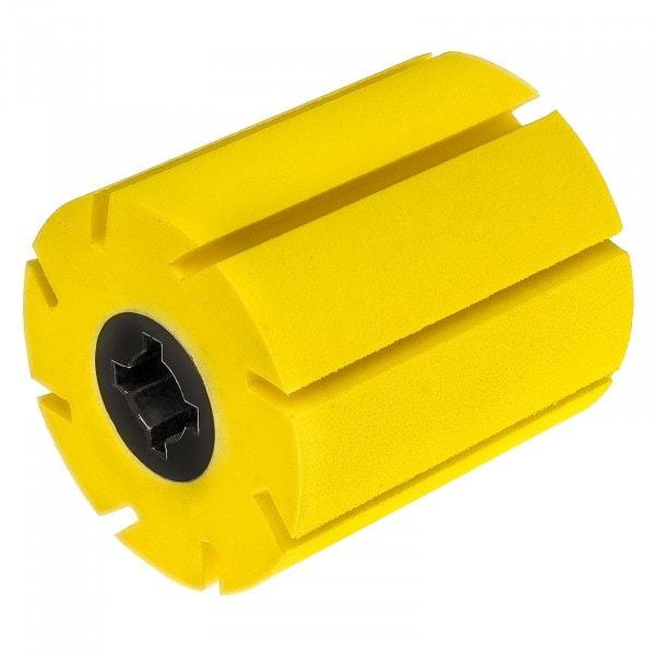 Gesamtansicht von Expansionswalze - gelb