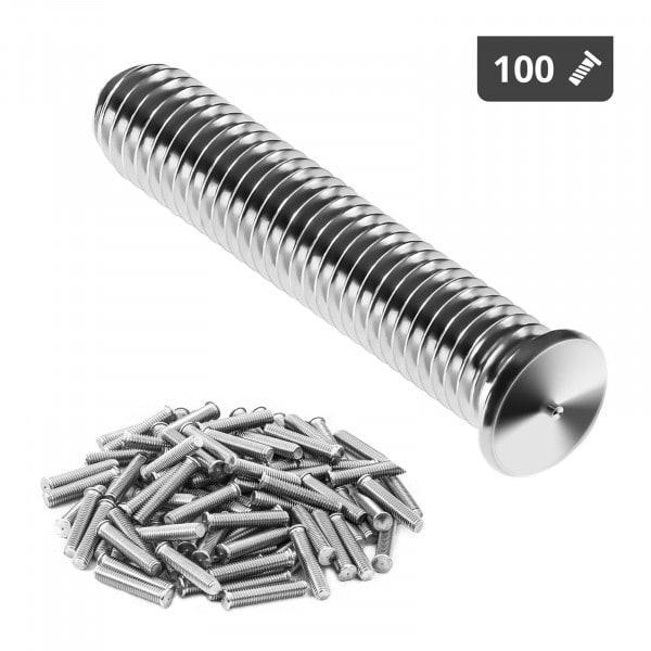 Schweißbolzen - M5 - 25 mm - Edelstahl - 100 Stück