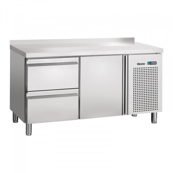 Bartscher Kühltisch - Umluft - 1 Tür - 2 Schubladen - Aufkantung