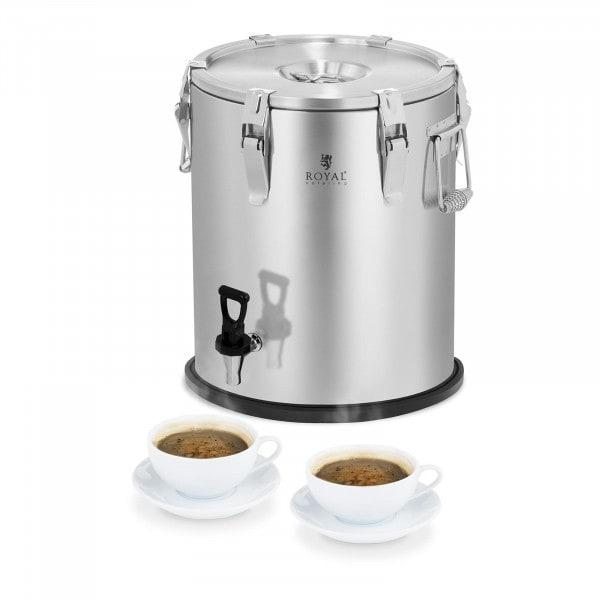 Thermobehälter - Edelstahl - 25 L - mit Ablasshahn
