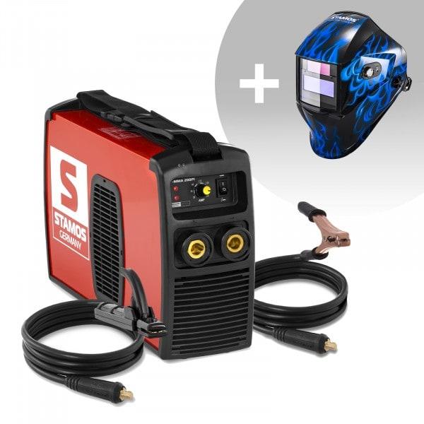 Schweißset Elektroden Schweißgerät - 200 A - 230 V IGBT + Schweißhelm – Sub Zero