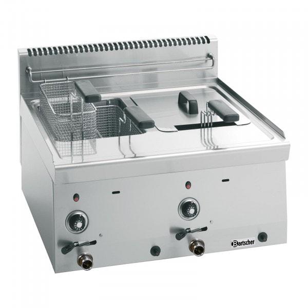 Bartscher Fritteuse Gas 600 - B 600mm - 2x 8 Liter