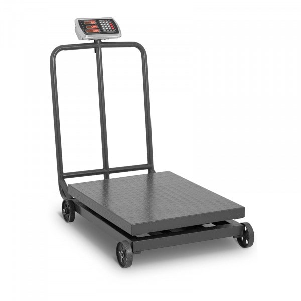 Plattformwaage - 1.000 kg / 200 g - rollbar - LED-Display