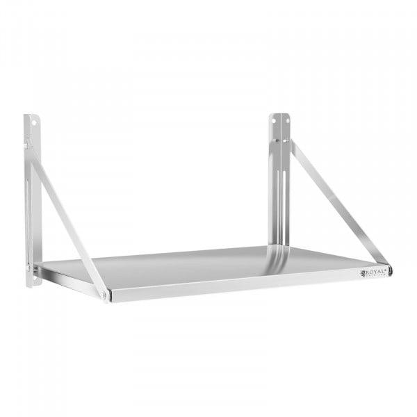 Wandbord - klappbar - 80 x 45 cm - 40 kg - Edelstahl