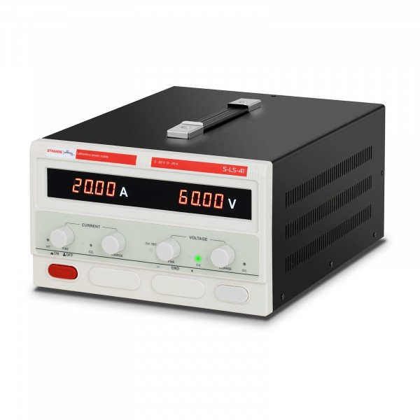 Labornetzgerät - 0-60 V - 0-20 A DC - 1.200 W